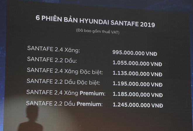 Hyundai Santa Fe 2019 ra mat tai VN, gia thap nhat 995 trieu dong hinh anh 3